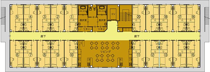2・3階平面図(身体障がい・住宅)