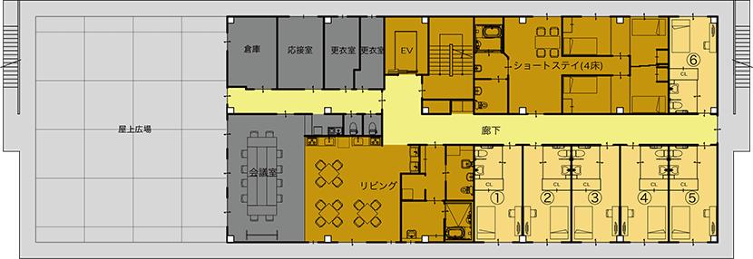 4階平面図(療育・住宅)